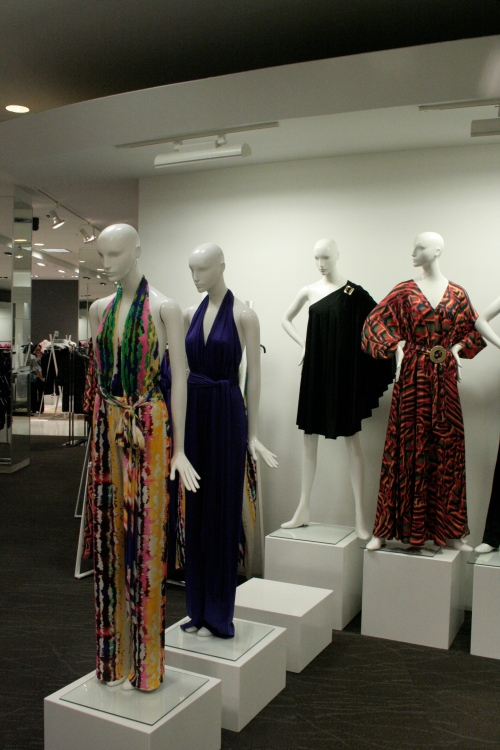 Halston display at The Bay